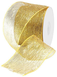 "4""X25Yd Metallic Gold/Brown W/Gold Foil RS210508 - DecoExchange"