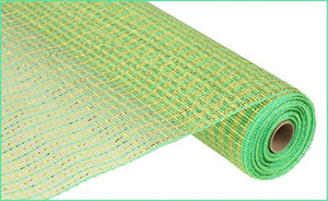 "21""X10YD BASKET WEAVE MESH Lime/Gold/Apple RE1056HA"
