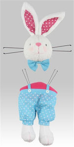 "2 Piece 29""H Boy Bunny Decor Kit White/Turquoise/Pink HE7188 - DecoExchange"