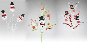 "3 Asst 25""-32""L Snowman Pick Red/White/Black/Lime XP3661"