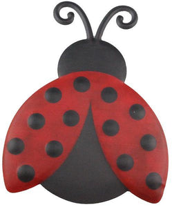 "12""H X 9.25""L Metal/Embossed Ladybug Red/Black MD0599 - DecoExchange"