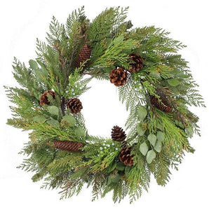 Winter Welcome Wreath, Pine Wreath, Winter Wreath, Holiday Wreath, Christmas Decor, Holiday Decor, Christmas Wreath, Christmas - DecoExchange