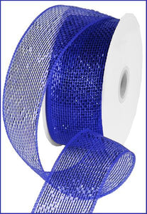 "2.5""X25Yd Metallic Royal Blue W/Blue Foil RS210425 - DecoExchange"