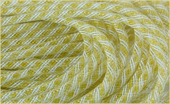 8MMX30YD DECO FLEX TUBING YELLOW/WHITE RE3010X9