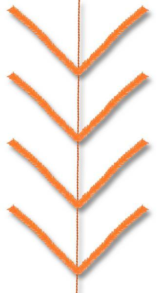 9' Pencil Work Garland X22 Ties Orange XX752420