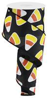 "2.5""X10yd Candy Corn On Black RG0172302"