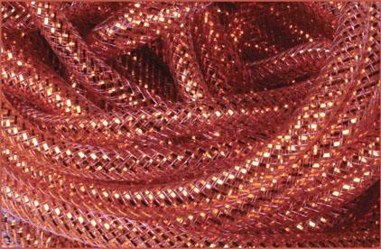 8Mmx30Yd Deco Flex Tubing Brown W/18K Gold Foil RE300444 - DecoExchange