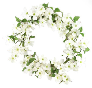 "25""Dia Dogwood Wreath Cream/Brown FR6575 - DecoExchange"