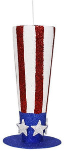 "11.75""H TOP HAT W/STAR Red/White/Blue HJ9003"