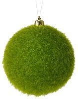 100MM FLOCKED/HAIR GLITTER BALL ornament XH950869