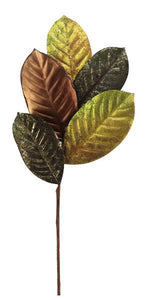 "18""L Magnolia Leaf Pick Brown/Olive NF203554 - DecoExchange"