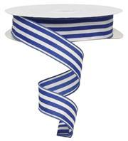 "1.5""X50Yd Vertical Stripe White/Royal Blue Rx9535Ar"