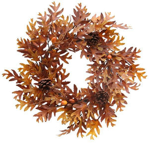 "24""DIA Oak Leaf Wreath, Acorn Wreath, Pine Cone Fall Wreath, Autumn Wreath, Gold and Yellow Fall Wreath"