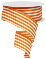 "2.5""X50yd Vertical Stripe Orange / White RX95365W"