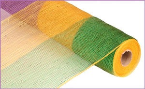 "21""X10Yd Panel Mesh Mardi Gras Bold RE1018C6 - DecoExchange"