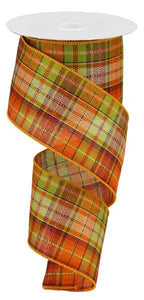 "2.5""X50YD PLAID ORANGE/MOSS/CREAM/BURG RGA5445"