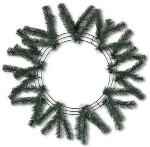 "15""Wire, 25""Oad Work Wreath X18 Ties, Tt Green XX748709"