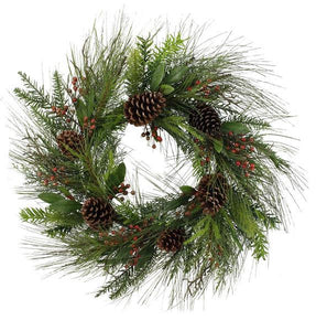 Christmas Wreath, Christmas Door Wreath, Winter Wreath, Traditional Wreath, Holiday Wreath,Christmas Decor, Christmas, XL Pine Wreath