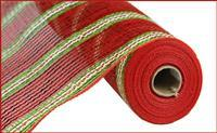 "21""X10YD PP/LASER FOIL MESH Red / Lime / Gold / White"