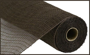 "10.5""X10YD FAUX JUTE/PP CHECK CHOCOLATE RY831331 - DecoExchange"