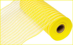 "10.5""X10YD POLY/FAUX JUTE MESH Yellow / Cream RY830257"