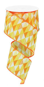"2.5""X10YD TRIANGLES YELLOW/ORANGE TONES RG1454J8 - DecoExchange"