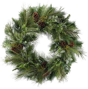"36"" Juniper Wreath, Juniper and Pine Wreath, Pine and Juniper Wreath,  Artificial Wreath, Holiday Decor, Christmas Pine and Juniper Wreath, Winter Wreath - DecoExchange"