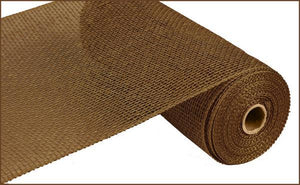 "10""X10Yd Poly Burlap Mesh Brown RP810004 - DecoExchange"