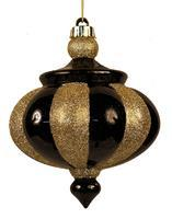 "7""L FINIAL ORNAMENT Black/Gold XY4146RM - DecoExchange"