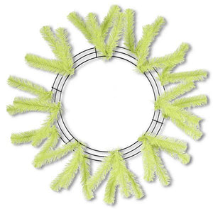 "15""Wire, 25""Oad Work Wreath X18 Ties, Lime XX748837 - DecoExchange"
