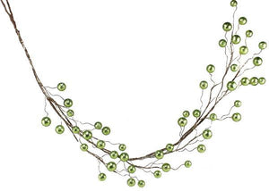 6'L Glitter Ball Garland Lime XG669635 - DecoExchange