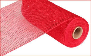 "10""X10YD METALLIC VALUE MESH Red RE800124 - DecoExchange"