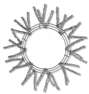 "15""Wire,25""Oad-Pencil Work Wreath 18 Ties, Met Slvr XX751126"