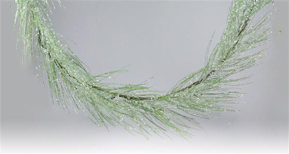 5'L Glittered Pine Garland Green XX781009