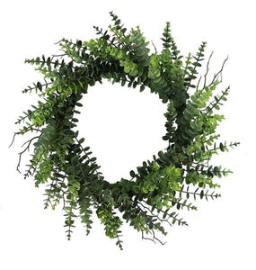 "24""Dia Eucalyptus Wreath Tt Green Fg5531 - DecoExchange"