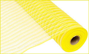 "21""X10Yd Poly/Faux Jute Mesh Yellow/Cream RY930257"