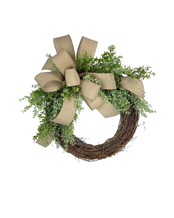 Evergreen Grapevine Wreath Kit