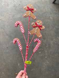Gingerbread Candy Cane X 5 H31  84703BN