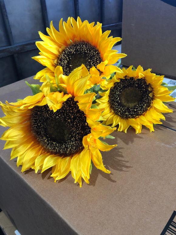 SUNFLOWER SPRAY X 3 YELLOW 12291