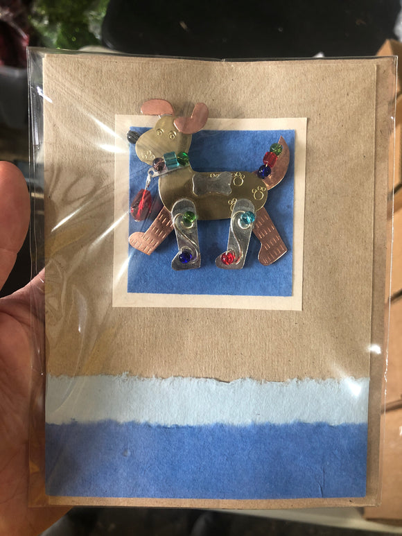 Baxter Dog Pin Card