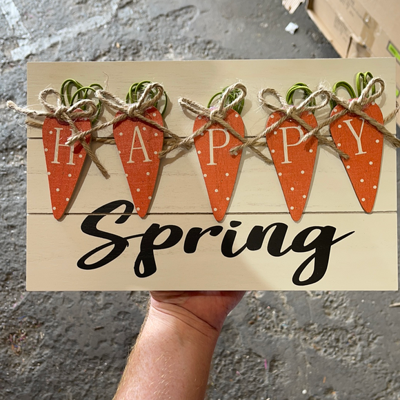 Happy Spring Sign D0.8Xw12Xh7.5 62857OR - DecoExchange