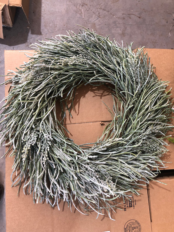 Winter Frost Grass & Seed Wreath, 24