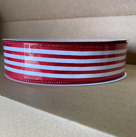 Red Stn/Wht Cabana Stripes, 1.5