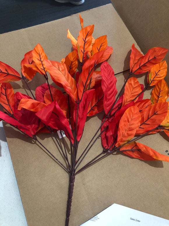 MAGNOLIA LEAF SATIN BUSHX12 ORANGE/MIX 73222