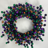 "24""Dia Round Mixed Glitter Ball Wreath Green/Black/Purple/Orange HH1261NJ - DecoExchange"