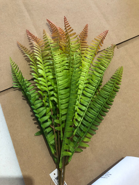 PLS BOSTON FERN BUSH GREEN/BROWN 84342