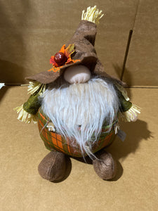 Harvest Gnome Stander plaid 40144 - DecoExchange