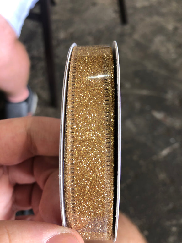Gold Glit Wired Glitter, 5/8