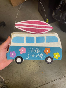 Orn Glitter Surf Board On Van W10Xh8 62680SUM
