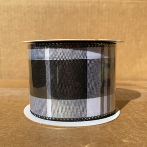 "Blk Wht Eday Plaid, 2.5""X10Y Q921340-21 - DecoExchange"